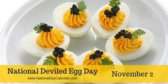The perfect time of year for #NationalDeviledEggDay just in time for the holidays!  via @nationaldaycal