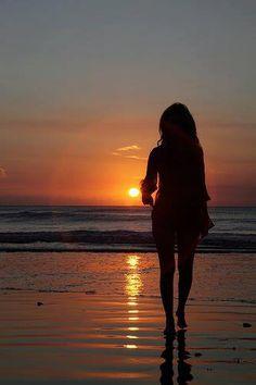 ..Sunset at the beach