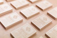 biz card / Reverbere Studio / wood