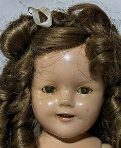 """18 1/2"""" Shirley Temple Ideal Doll Original Clothes Baby Takes a Bow Dress 