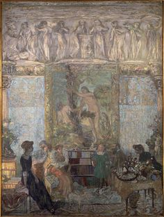 La bibliothèque (The Library), 1911 - Musée d'Orsay, Paris by Edouard Vuillard Edouard Vuillard, Pierre Bonnard, Post Impressionism, Art Moderne, Paul Gauguin, French Artists, Sculpture, Beautiful Paintings, Paris