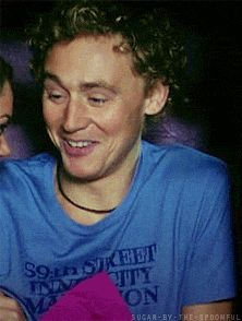 "Baby Hiddles. Too cute! *gif* (<- o'boy... you're in too deep. It shows from the eyes. A confused ""help"" going on...)"