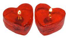 Velas de Gel hechas con molde de Silicona Industrial Corazón.                                                                                                                                                     Más