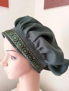 Custom Trimmed Renaissance Linen Muffin Cap - $25 - Everyone wore hats in medieval times: you should not be the exception