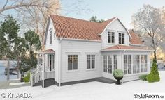 New England möter Hälsingland - Hemma hos Knaada New England Hus, Home Exterior Makeover, House Siding, Room Additions, Cabins In The Woods, Old Houses, Exterior Design, Beautiful Homes, House Plans