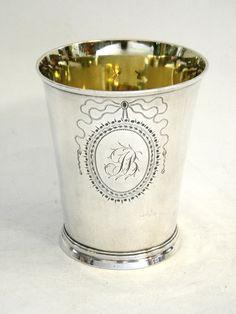 ANTIQUE GEO. III GEORGIAN SILVER BEAKER / CUP LONDON 1781 John Bull Antiques www.antique-silver.co.uk Antique Silver Shop London, UK