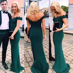 Emerald Green Evening Dress,Sexy Woman Prom Dresses, Lace Prom Dress, Mermaid Prom Dresses,Lace Off The Shoulder Formal Dress, Prom Dresses Long