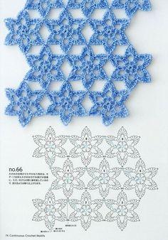 Photo from album Continuous Crochet Motifs 2016 on Crochet Motif Patterns, Crochet Diagram, Stitch Patterns, Knitting Patterns, Crochet Stars, Crochet Flowers, Crochet Crafts, Crochet Projects, Blouse Au Crochet