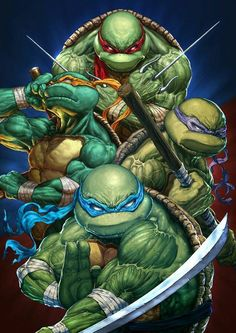 Cartoons And Heroes — redskullspage: Teenage Mutant Ninja Turtle. Ninja Turtles Art, Teenage Mutant Ninja Turtles, Teenage Turtles, Tmnt, Comic Books Art, Comic Art, Comic Poster, Hero Marvel, Comic Anime