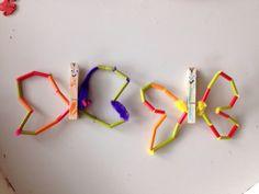 Vlinders gemaakt door de jongens.