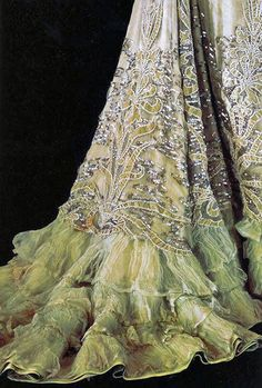 Détails couture d'une robe su soir de Charles-Frédérick Worth, 1901. Evening gown details by Worth