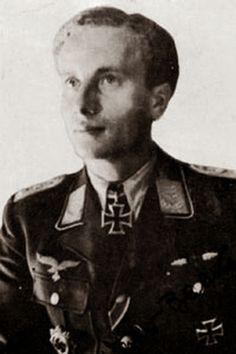 ✠ Werner Baake (1 November 1918 – 15 July 1964) Killed in an aircraft accident. RK 27.07.1944 Oberleutnant Staffelkapitän 2./NJG 1