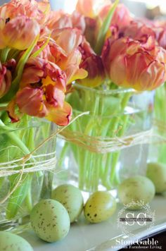 StoneGable: SHADES OF SPRING GREEN TABLESCAPE