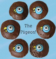The Pigeon cupcakes