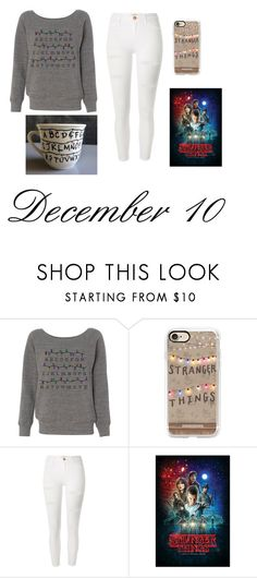 """""""December 10th (Stranger Things) Rtd"""" by softballgirl011 ❤ liked on Polyvore featuring Casetify and River Island"""