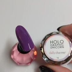 🌈🦄🌈Holographic Unicorn Powder in stock now at DAILYCHARME.COM!🌈🦄🌈 Apply this powder over any color for beautiful holographic chrome finish!💅😘