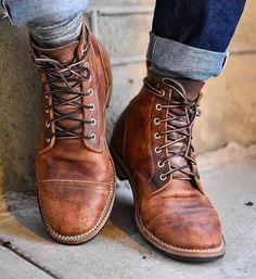 2018 High Quality Men's Vintage British Boots Autumn Winter Short Leather Boots Men Fashion High-Cut Lace-up Martin Boots Male M Plus Size Boots, Mens Boots Fashion, Rugged Men's Fashion, Fashion Men, Fashion Sites, Style Fashion, Fashion Shoes For Men, Fashion Design, Fashion Clothes