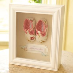 keepsake box frame1st shoe love this idea