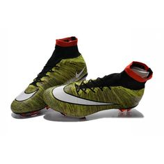 super popular 0a0d9 3598e New Nike Mercurial Superfly FG Firm Ground Soccer Shoes Volt Red Black White