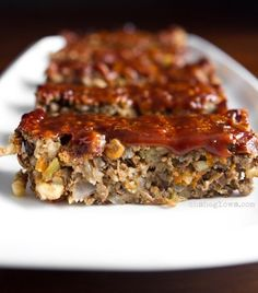 Glazed Lentil Walnut Apple Loaf, Revisited: My favourite lentil loaf, revisited. This one is heartier and less dense than the original. Adapted from Terry Walters.