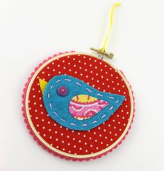 Felt Bird Embroidery Hoop Wall Art by lovahandmade