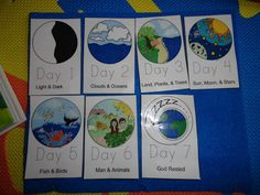 Days of Creation Craft Book | took this Creation Mini Book and used it for our felt board pieces ...