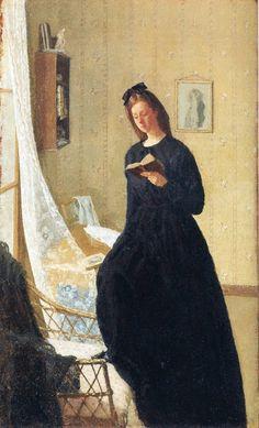 Gwen John (Welsh artist, 1876-1939) Reading at The Window