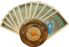 A nice wood playing card holder I can use while playing cards with my grandchildren.