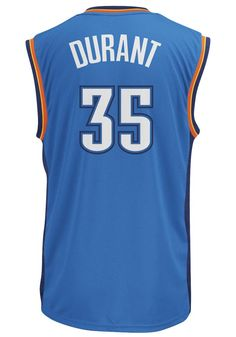 1df0a9cfa Adidas Oklahoma City Thunder Jersey- Kevin Durant  35 Blue Replica Jersey  Durant Nba