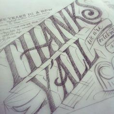 Lettering Sketch by Martina Flor