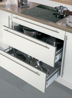 Kitchen Modern White white aluminum kitchen cabinets | pictures of kitchens - modern