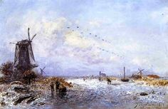 Johan-BertholdJongkind-WinterScene Johan Barthold Jongkind (3 June 1819 – 9 February 1891) was a Dutch painter and printmaker. He painted marine landscapes in a free manner and is regarded as a forerunner of Impressionism.