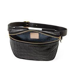 Clare V. Fannypack - Black Croco on Garmentory Stylish Fanny Pack, Clare Vivier, Bag Sale, Crocodile, Nashville, Daddy, Sporty, Pairs, Style Inspiration