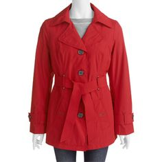 6056e2b30bf Faded Glory - Faded Glory - Women s Plus-Size Trench Coat - Walmart.com