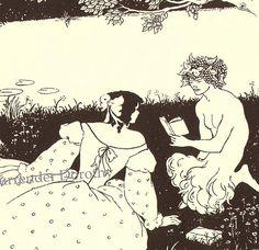 Cover Design Yellow Book Aubrey Beardsley Print by SurrendrDorothy, via Flickr