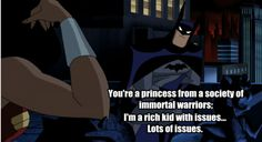 self declared rich kid with issues. Batman Wonder Woman, Justice League Unlimited, Rich Kids, Geek Out, Nightwing, I Don T Know, Dc Universe, Future Husband, Dc Comics