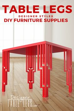 Nice DesignerTableLegs.com Red Art Deco Table Legs Interior Design Furniture DIY  Ikea Hacks