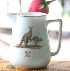 Vintage 1960's souvenir Bulli NSW Small China Jug  Kangaroo by VintageCollateral on Etsy