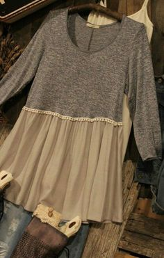 Heather grey tunic