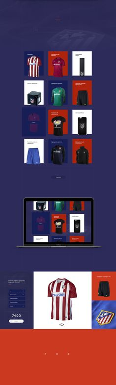 Redesign concept Atlético de Madrid Web Site on Behance