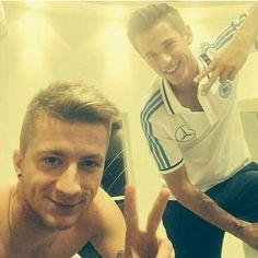 Selfie. Marco Reus & Erik Durm