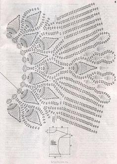 Uma bela sugestão para crochetar: Blusa Caramelo com ponto abacaxi!!!!!!!!!!