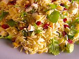 Tri-Colore Orzo   Yummy good and easy!  From Giada De Laurentis