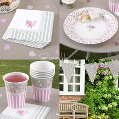 FRILLS & SPILLS TEA PARTY SET-Shabby Chic Kit: Paper Plates/Napkins/Cups/Bunting   Home, Furniture & DIY, Celebrations & Occasions, Party Supplies   eBay!