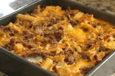 Waffle & Sausage Breakfast Caserole - Waffles, eggs, sausage, and maple syrup. This is one really delicious and unique breakfast casserole!