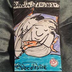 Silver sleeper 2015-09-07 00:32am DD249 #drawdaily2015