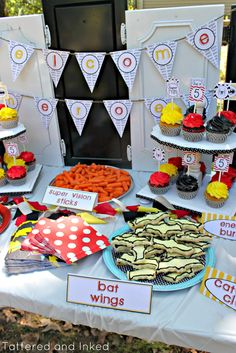 Tattered and Inked: Superhero Fifth Birthday Party!! So many Fantastic Ideas!
