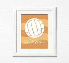 Volleyball  Childrens Wall Art  8x10  Sports by pixelgecko, $14.90