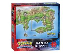Pokemon Kanto Puzzle  Piece together a bit of the wonderful world of Pokémon. This 550-piece puzzle showcases a regional map of Kanto. #pokemon #kanto #puzzle #mappuzzle