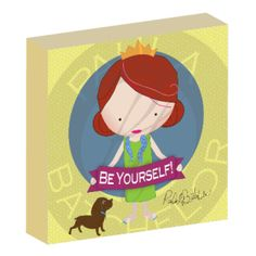 """Be Yourself!"" girl canvas wall art by Paula Batchelor"